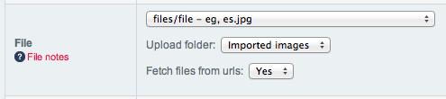 File config